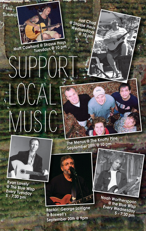 Support Local Music September 2013